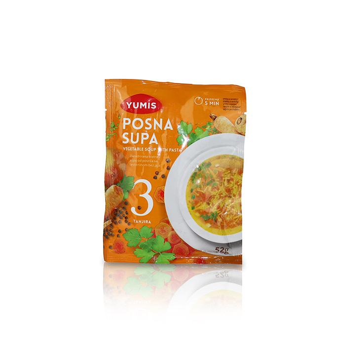 Vegetable Soup with Pasta - Posna Supa