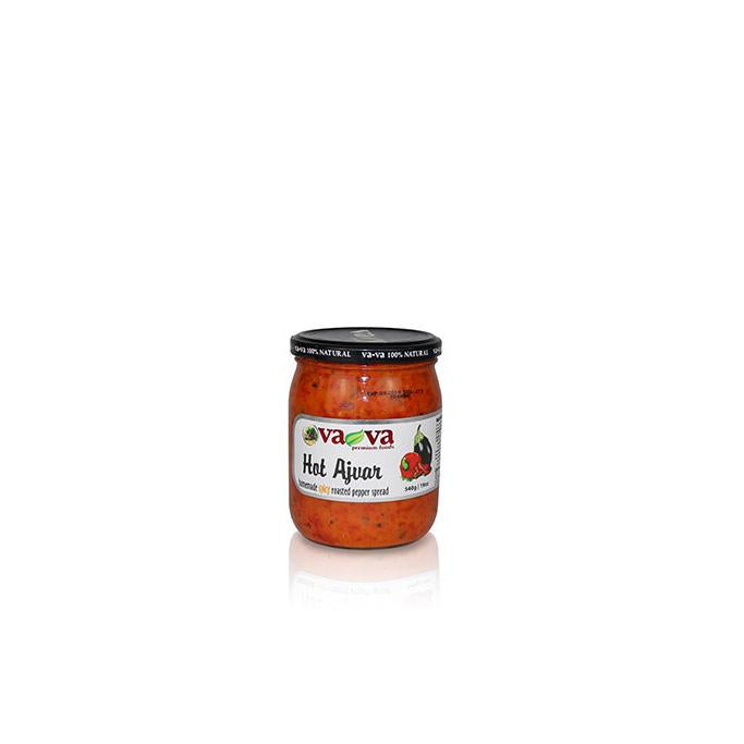 Hot Ajvar - Homemade Spicy Roasted Pepper Spread