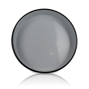 White Large Platter with Black Ring