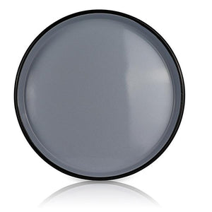 White Medium Platter with Black Ring