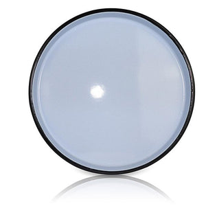 White Medium Platter with Big Black Ring