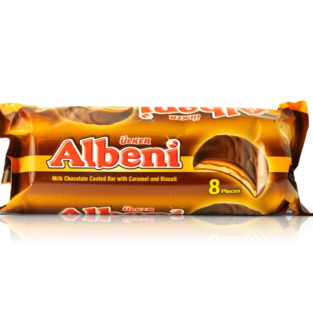 Albeni Milk Chocolate Coated Bar (Caramel and Biscuit)