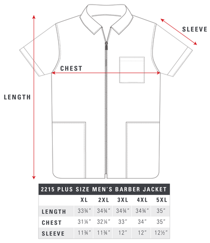 2215-Pus-Size-Mens-Barber-Jacket-Size-Chart