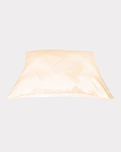 Betty Dain Satin Pillow Cover in Beige for Hair and Skin