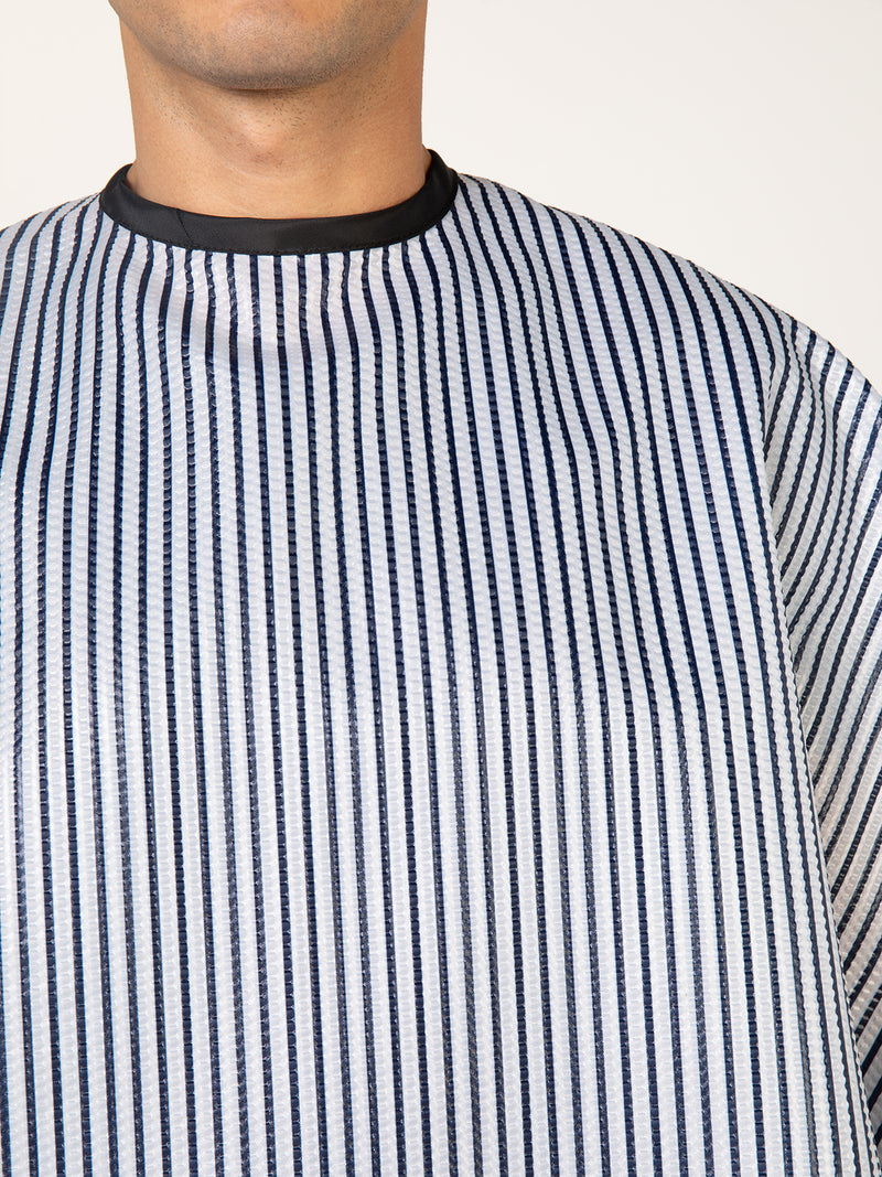 Seersucker Barber Shop Cape, Striped Cape