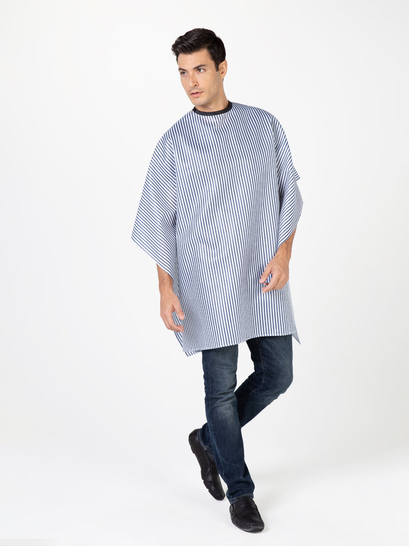 Barber Shop Cape with Stripes by Betty Dain