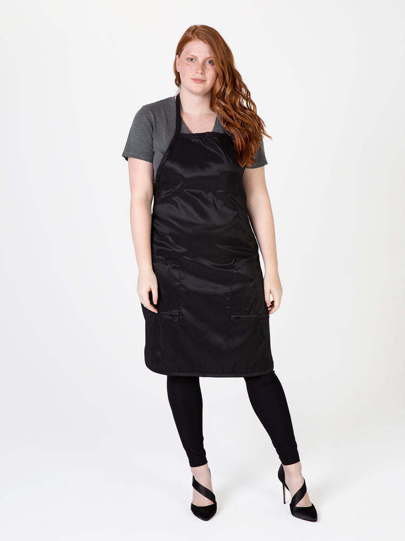 Betty Dain Plus Size Hair Stylist Apron in Black