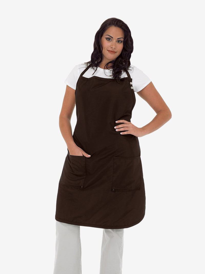 Betty Dain Plus Size Hair Stylist Apron in Brown