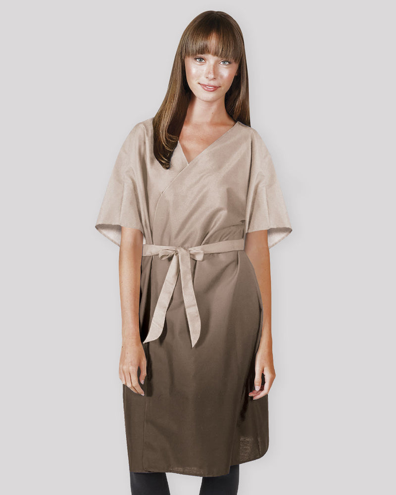 Client Salon Robe in Beige