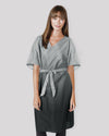 Salon Robe for Clients, Spa Wrap in Gradient Gray