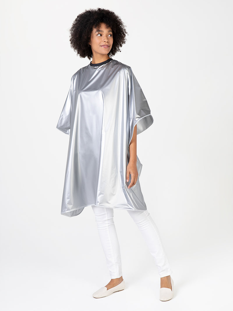 Silver Shampoo Cape for Salons Betty Dain Creations