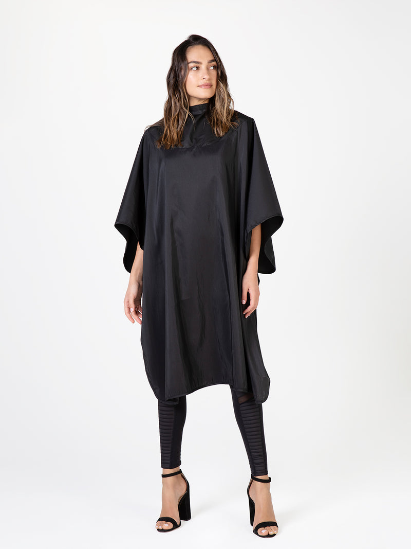 Betty Dain Cape All-Purpose Chemical-Resistant Black Salon Cape