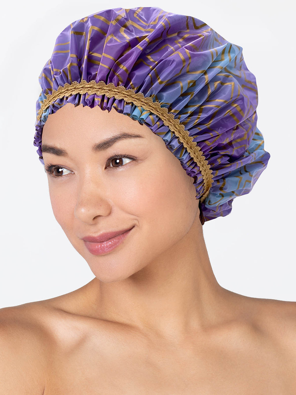 Splash of Gold PEVA Shower Cap Betty Dain