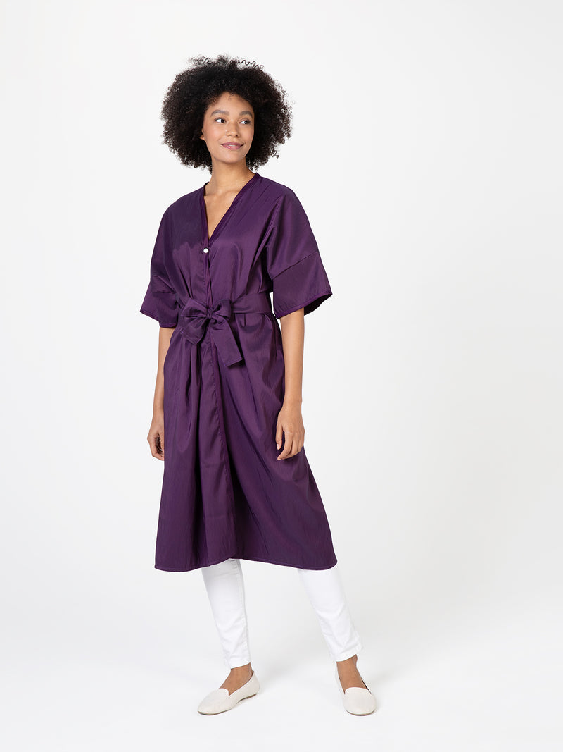 Purple Silkara Client Wrap, Soft Polyester Gown for Salons and Spas, Betty Dain