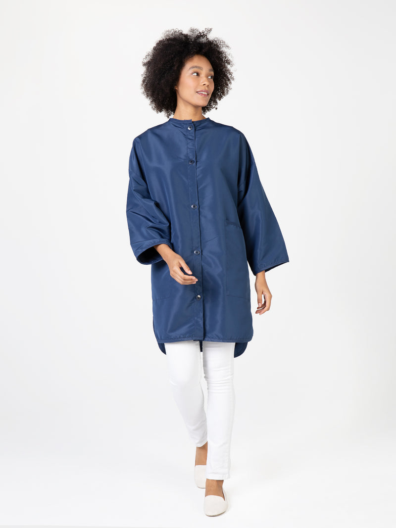 Betty Dain Stylist Big Shirt, Comfy Tunic Navy