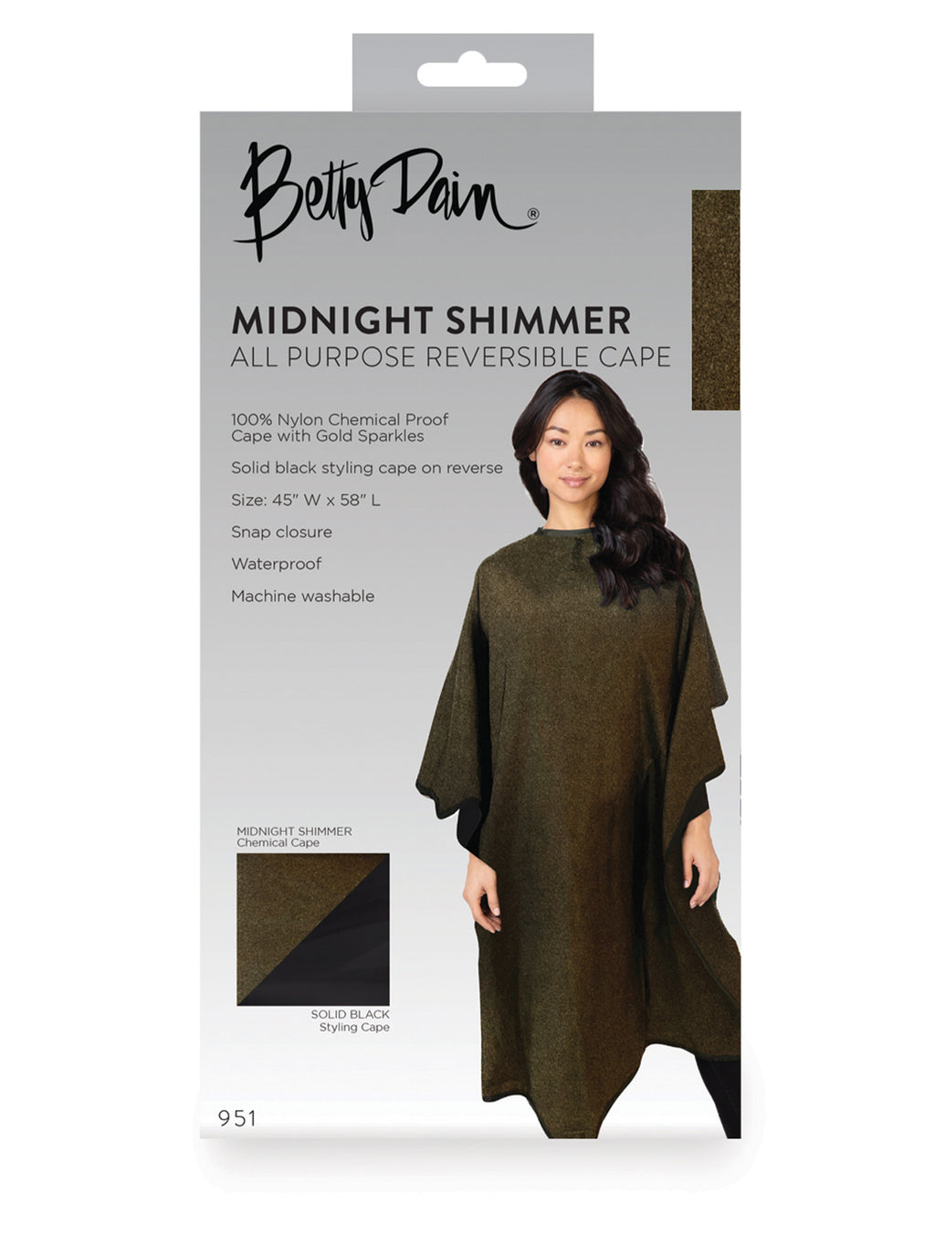 All-Purpose Reversible Midnight Shimmer Cape