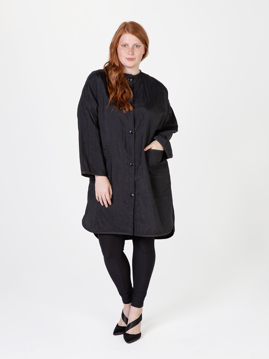 Betty Dain Stylist Apparel Oversized Tunic Black