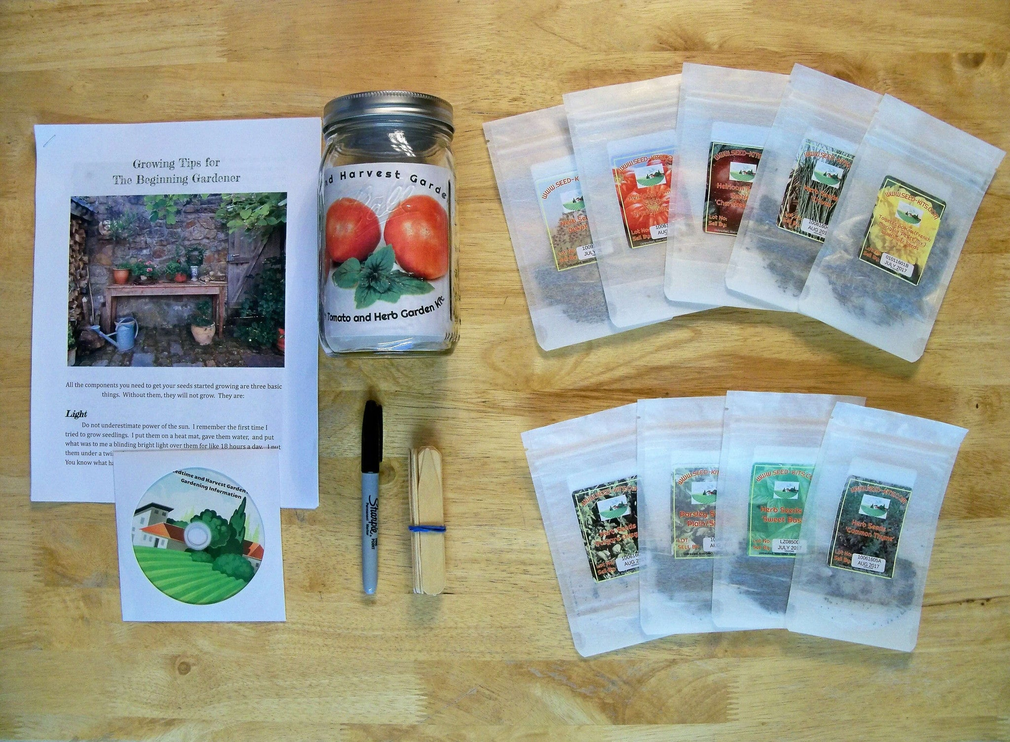Tomato And Herb Garden Kit