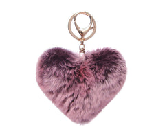 Lavender Soft Heart Key Chain
