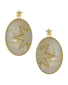 Star Detail Drop Earrings