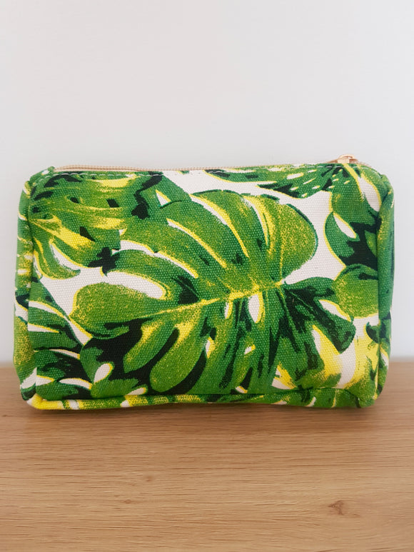 Tropical Print Cosmetics Bag