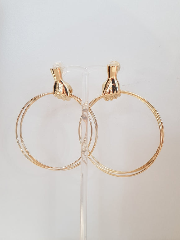 Quirky Gold Hoop Earrings