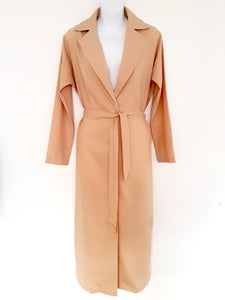 Beige Wrap Coat