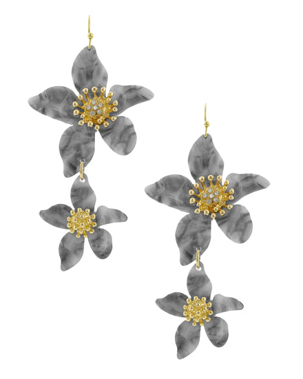 Flower Shape Resin Earrings