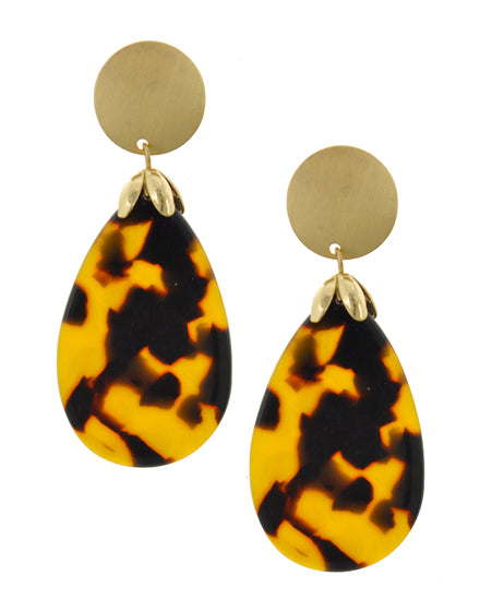Tortoise Shell Resin Earrings