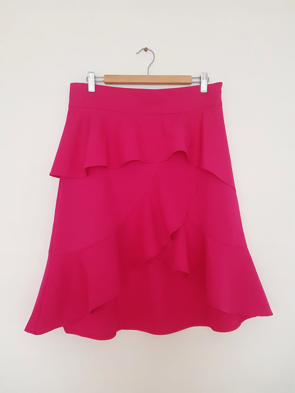 Hot Pink Frill Skirt