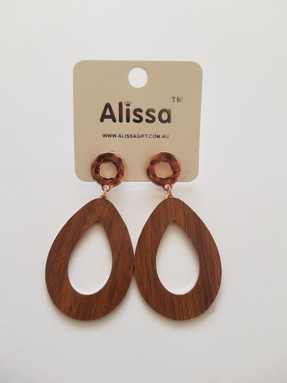 Timber Finish Earrings