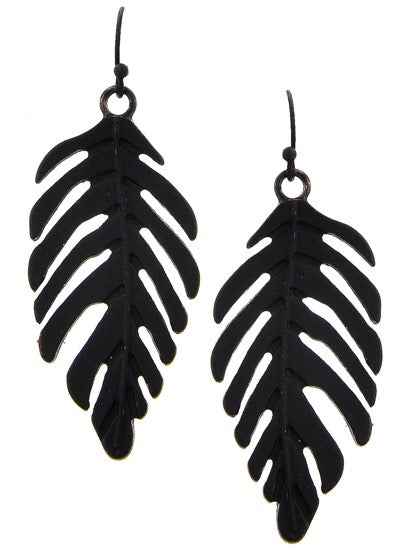 Tropical Leaf Earrings
