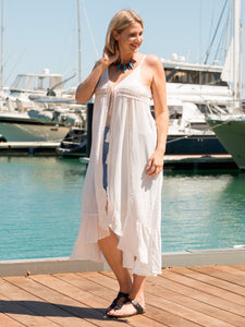 White Cotton Beach Cover Up