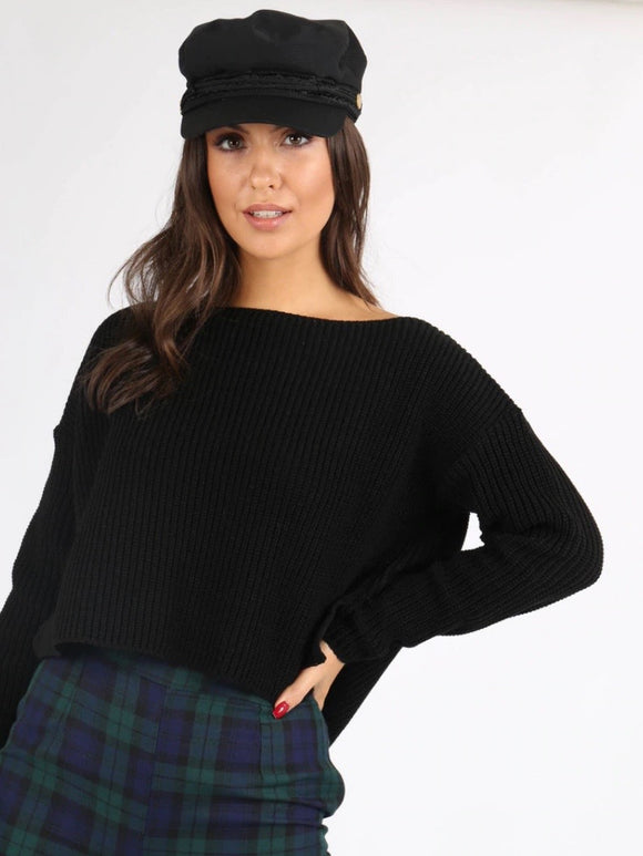 Black Chunky Knit Jumper