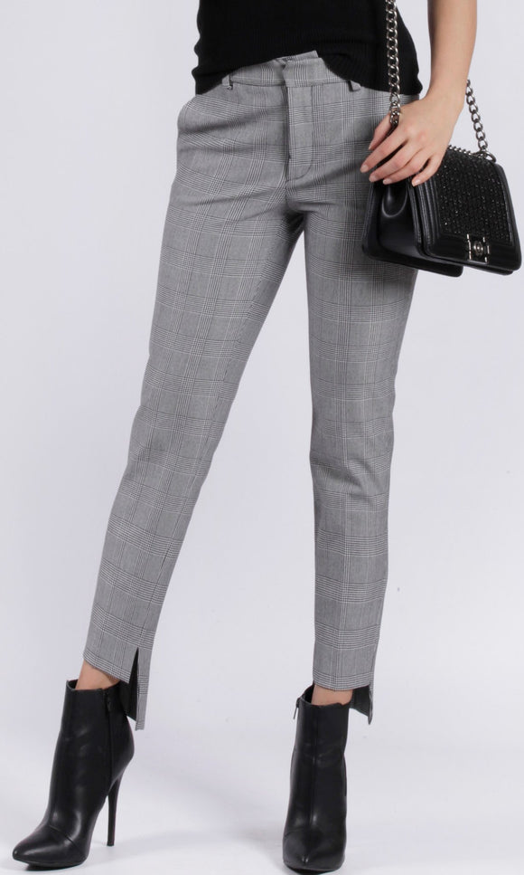 Tailored Check Tweed Pants
