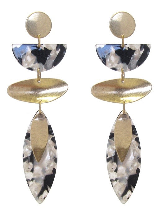 Geometric Shape Art Deco Earrings