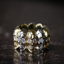 Load image into Gallery viewer, Diamond Skull Eternity Band