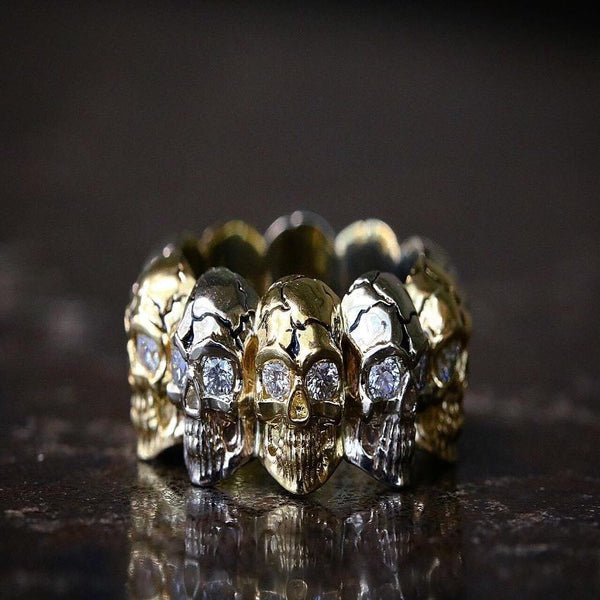 Diamond Skull Eternity Band