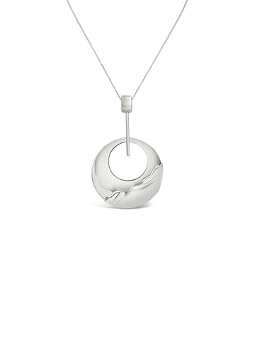 CIRCLE ABSTRACT BEND NECKLACE