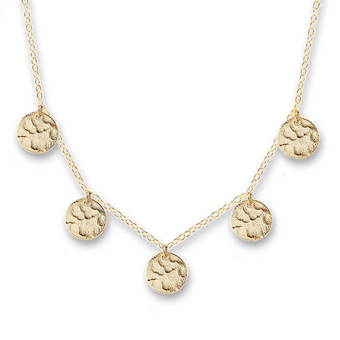 GOLD SCATTERED JINGLE NECKLACE