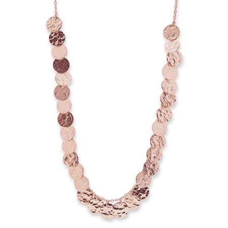 ROSE GOLD MULTI JINGLE NECKLACE