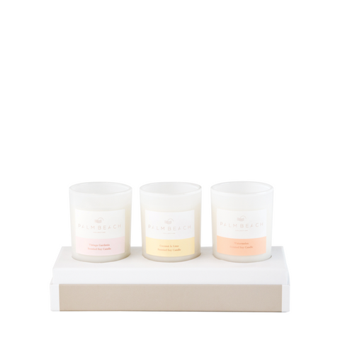 PALM BEACH TRIO MINI CANDLES GIFT SET