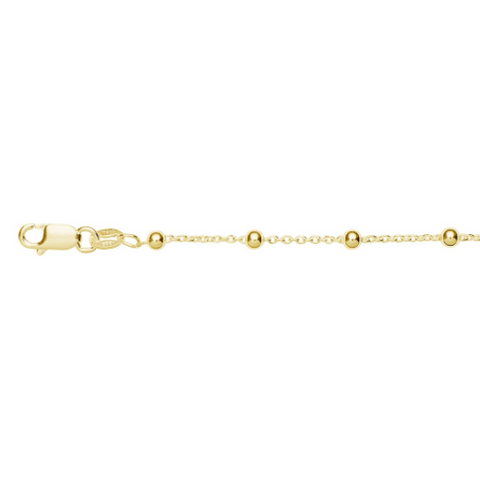 BALL CHAIN ANKLET, GOLD