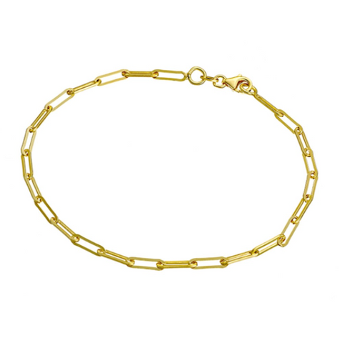 CHAIN ANKLET, GOLD