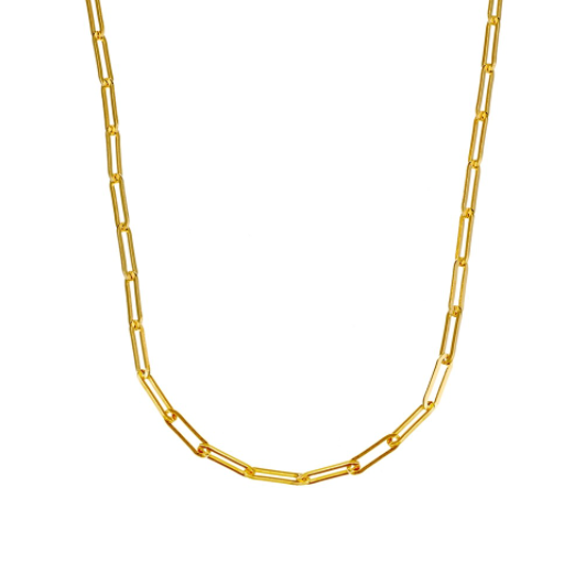 FINE CHAIN NECKLACE, GOLD