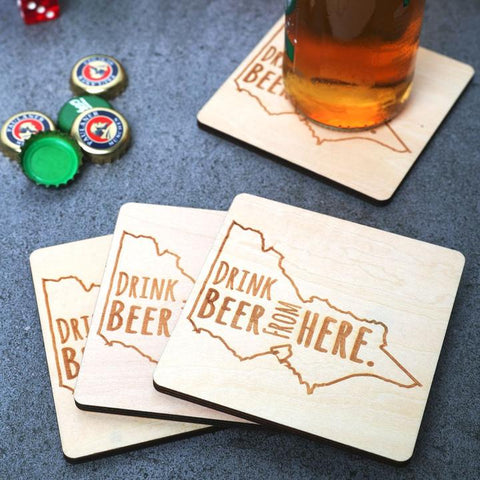 DRINK BEER HERE, VIC COASTERS