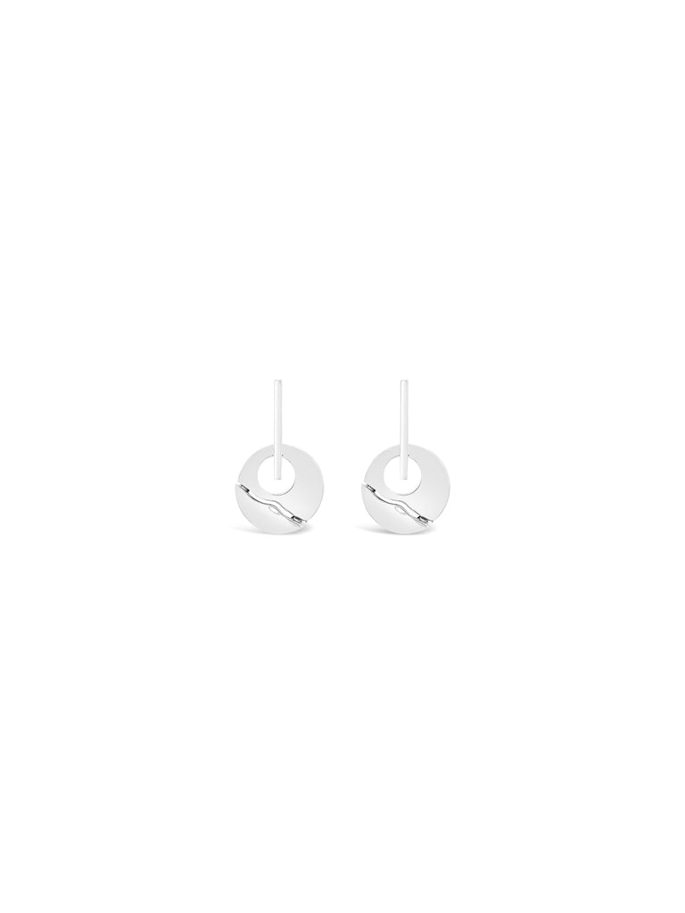 CIRCLE ABSTRACT BEND EARRINGS