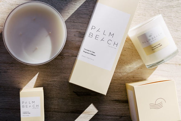 PALM BEACH mini candle, COCONUT & LIME