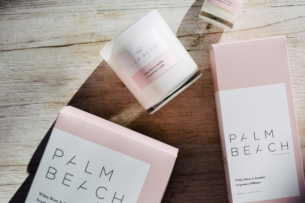PALM BEACH mini candle, WHITE ROSE & JASMINE