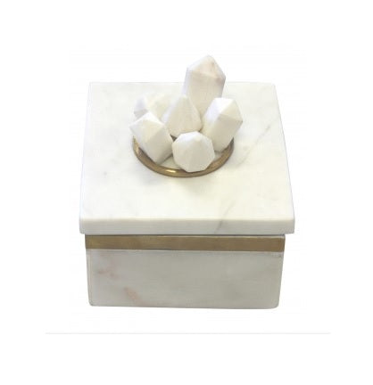 MARBLE CLUSTERED DECOR BOX